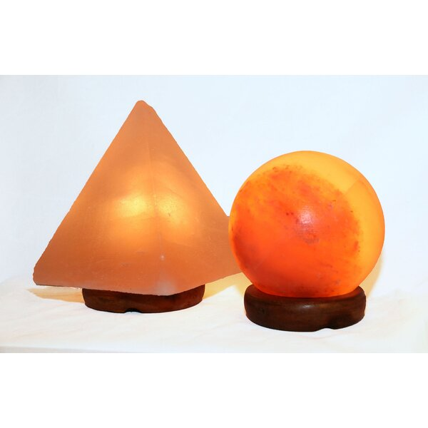 Damone 9 Himalayan Salt Table Lamp by World Menagerie