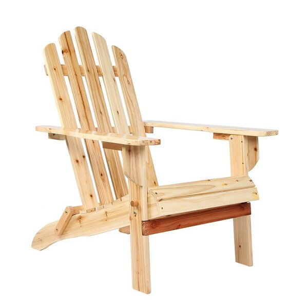 Tanaka Wooden Adirondack Chair by Millwood Pines
