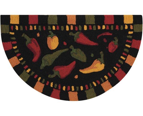 Shavon Hand-Tufted Black Novelty Rug by Winston Porter