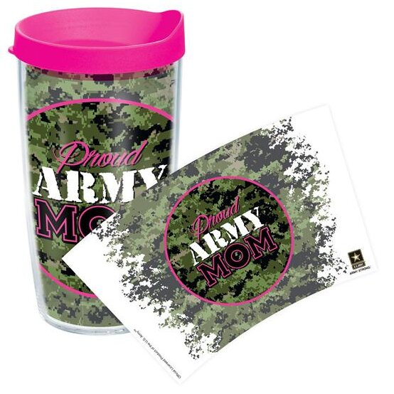 Patriotic Proud Army Mom Plastic Travel Tumbler by Tervis Tumbler