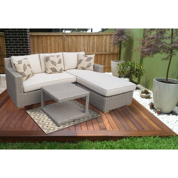 Coast 11 Piece Rattan Sectional Seating Group with Cushions by Gracie Oaks