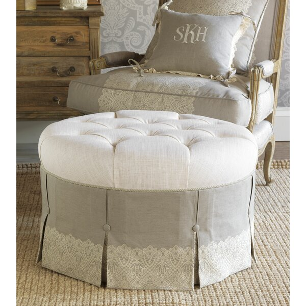 Sabelle Tufted Ottoman by Eastern Accents