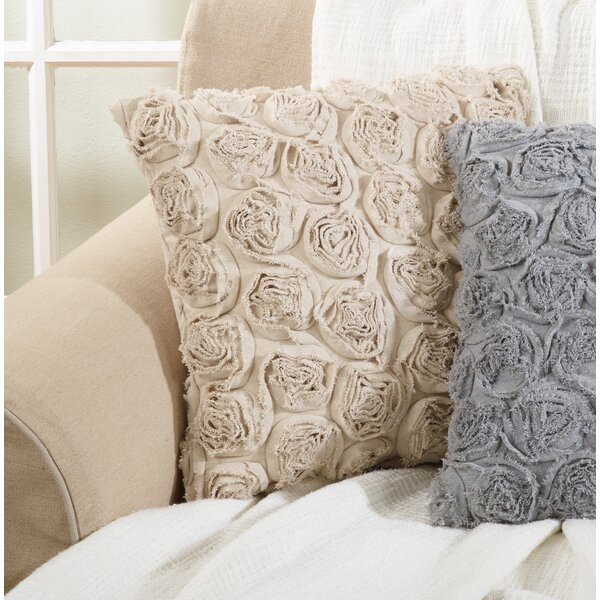 Wenzel Rose Texture Decorative Throw Pillow by House of Hampton