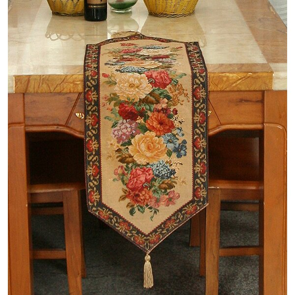 Tache Colorful Country Rustic Floral Morning Awakening Table Runner by Tache Home Fashion