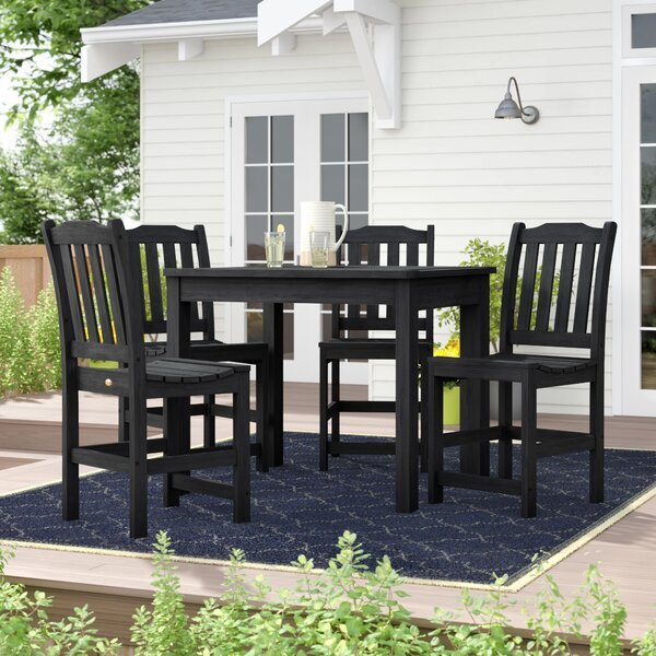 Amelia 5 Piece Bar Height Dining Set by Three Posts