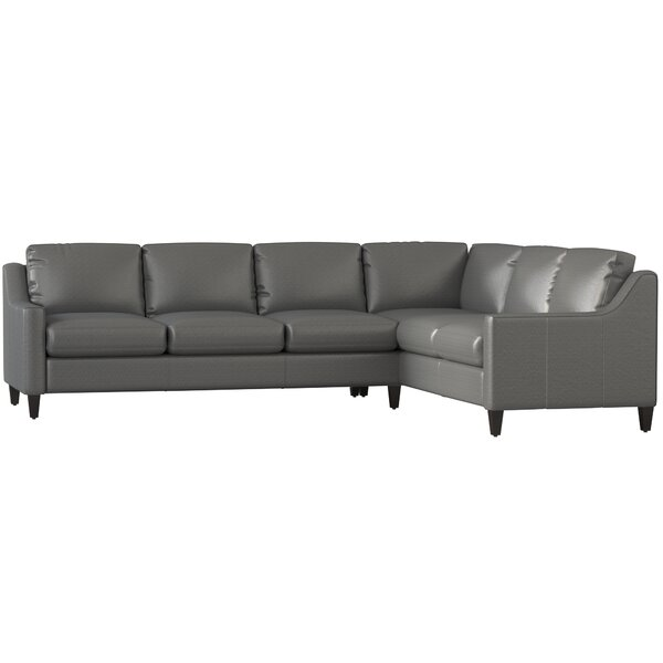 Jesper Leather Sectional by DwellStudio