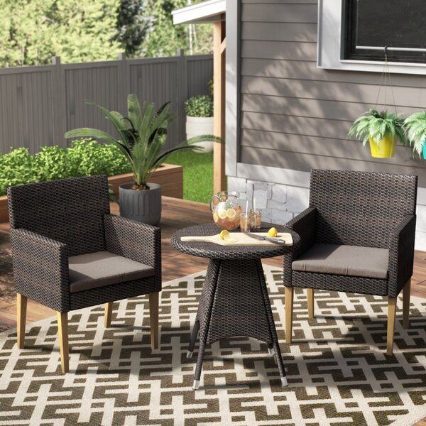 Mantooth 3 Piece Bistro Set with Cushions by Ivy Bronx