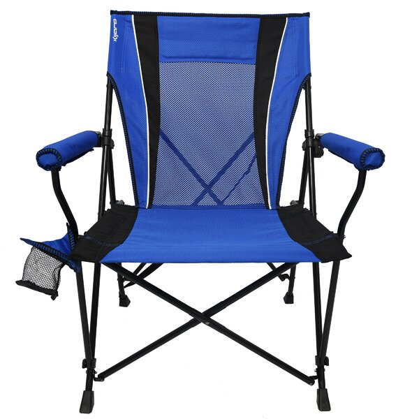 Chyna Dual Lock Hard Folding Camping Chair by Free