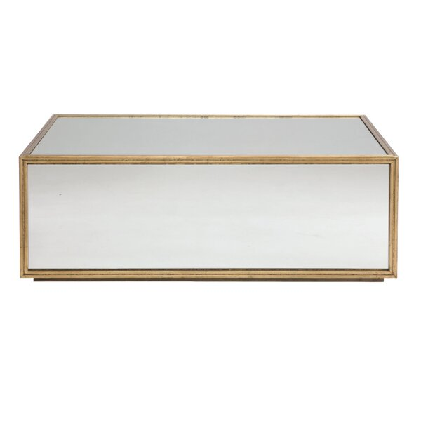 Jet Set Mirrored Coffee Table by Bernhardt