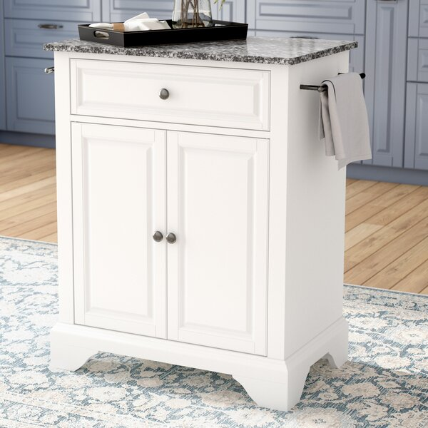 Abbate Kitchen Cart with Granite Top by Darby Home Co