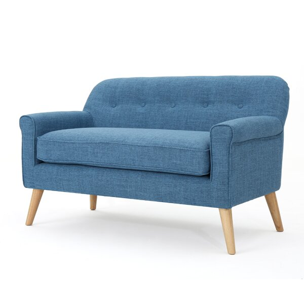 Enfield Mid Century Modern Loveseat by George Oliver