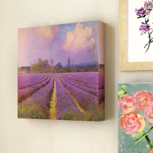 Lavender Fields I Photographic Print on Wrapped Canvas by Lark Manor