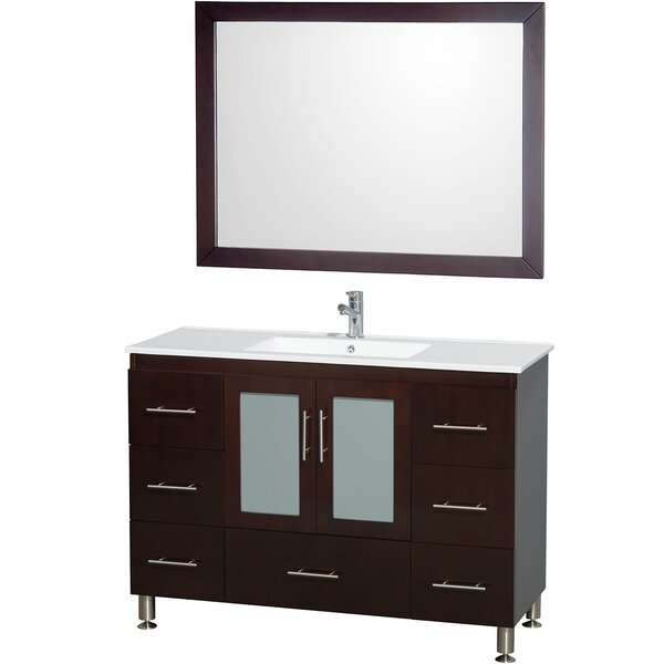 Katy 48 Single Bathroom Vanity Set with Mirror by Wyndham Collection