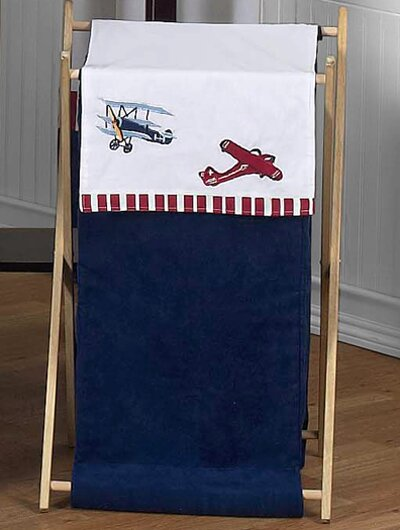 Vintage Aviator Laundry Hamper by Sweet Jojo Designs