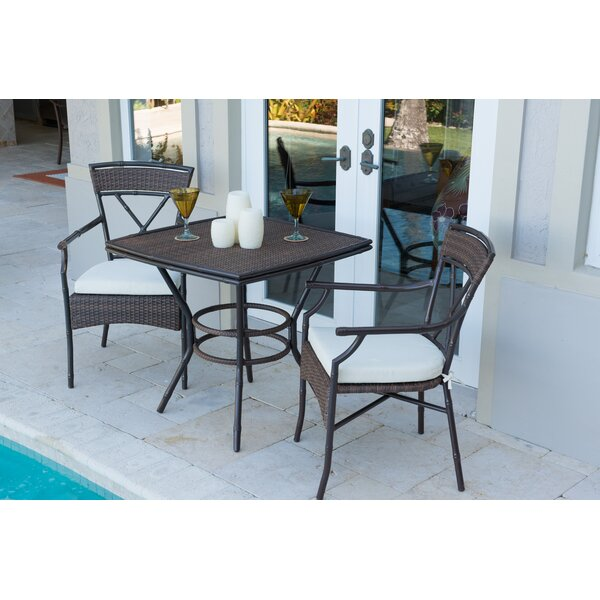 Rum Cay 3 Piece Bistro Set by Panama Jack Outdoor