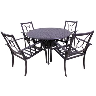 Waynesburg Round 5 Piece Dining Set By Red Barrel Studio