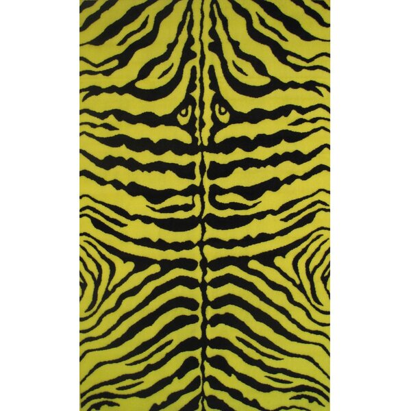 Fun Time Yellow Zebra Skin Area Rug by Fun Rugs