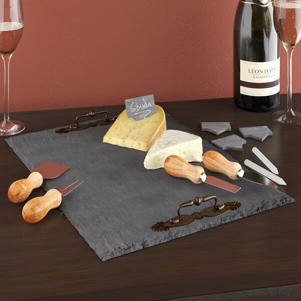 11 Piece Slate Cheese Board Set by Birch Lane™