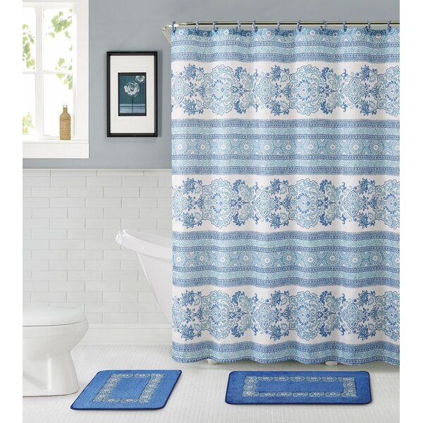 Bossier City 15 Piece Shower Curtain Set by Alcott Hill