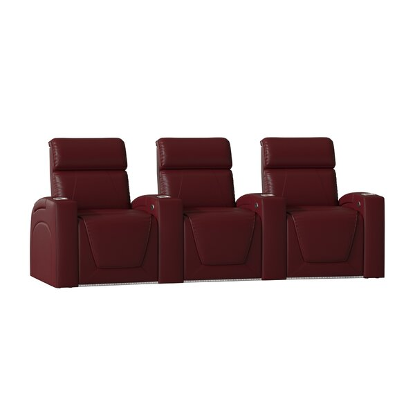 Zone HR Series Curved Home Theater Recliner (Row Of 3) By Winston Porter
