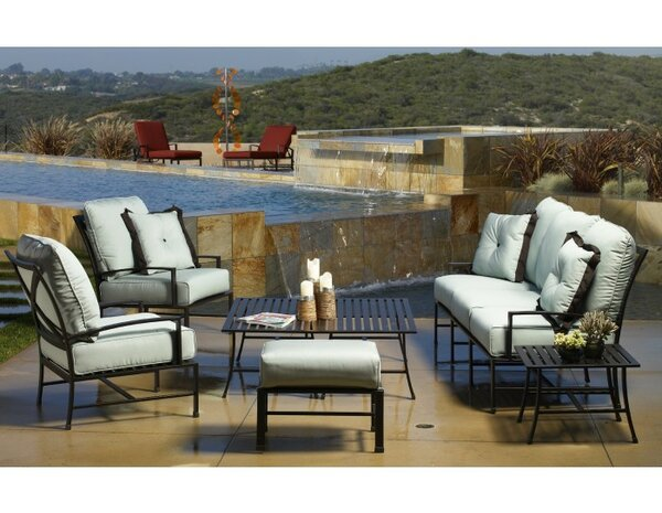 La Jolla 4 Piece Sunbrella Sofa Seating Group with Cushions by Sunset West Sunset West