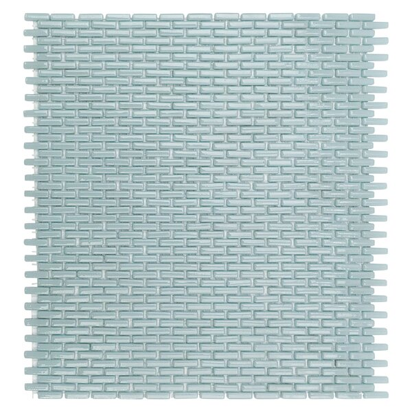 Recoup 11.75 x 10.87 Glass Mosaic Tile in Green by Splashback Tile