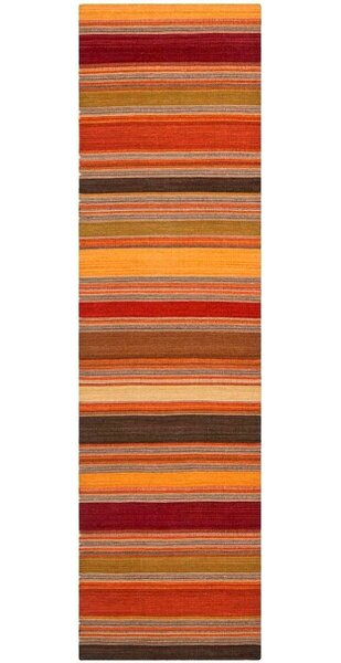 Striped Kilim Gold Rug by Safavieh