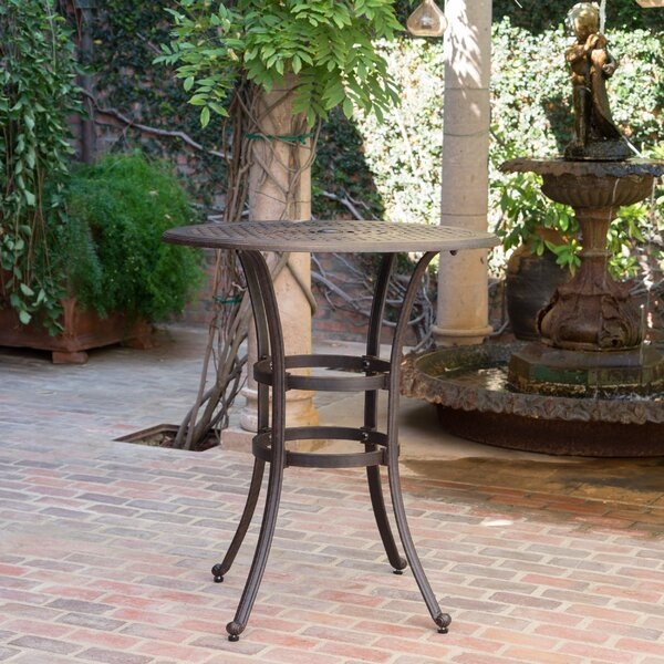 Corle Metal Bar Table By Darby Home Co