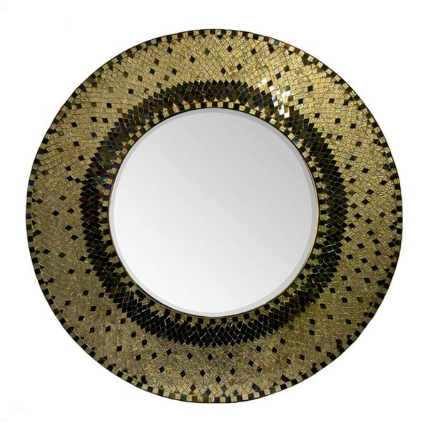 Cropper Round Mosaic Accent Mirror by World Menagerie