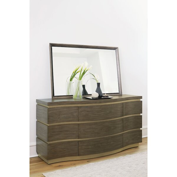 Profile 9 Standard Dresser/Chest With Mirror By Bernhardt by Bernhardt New