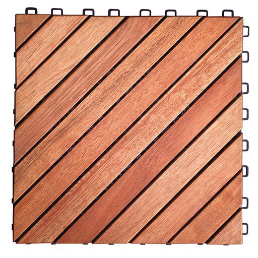 Eucalyptus 11 x 11 Interlocking Deck Tiles by Vifa