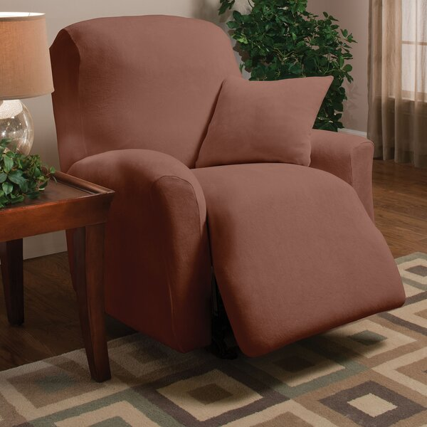 Stretch Microfleece Box Cushion Recliner Slipcover by Madison Home