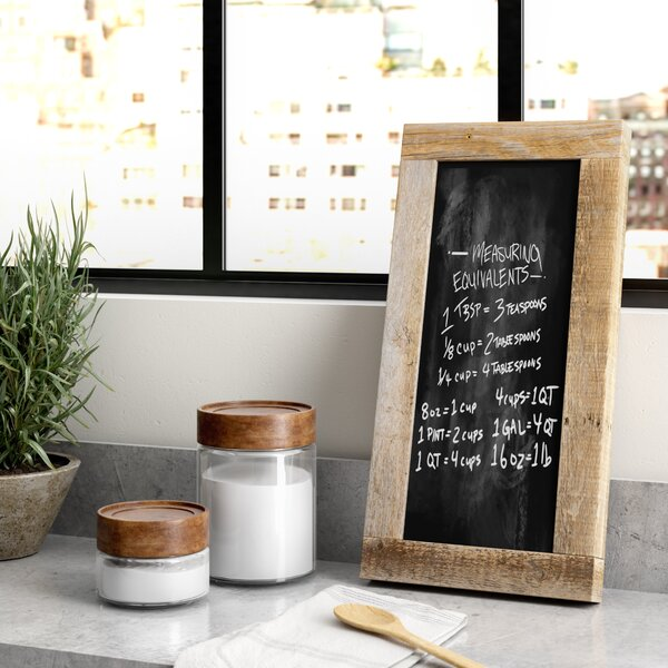 Barnwood Wall Mounted Chalkboard by Greyleigh