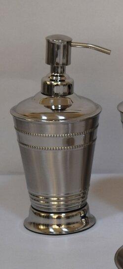 Vida Beaded Stripe Stainless Steel Lotion Dispenser by Alcott Hill