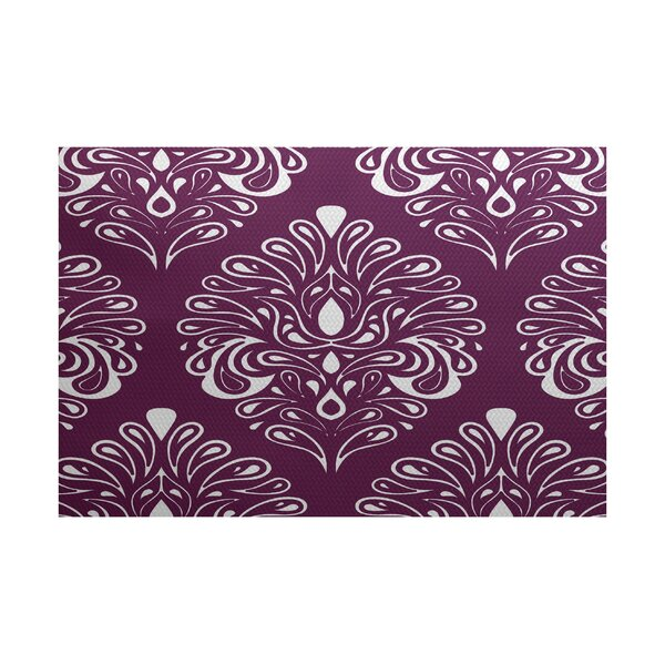Rhymer Purple Indoor/Outdoor Area Rug by Charlton Home