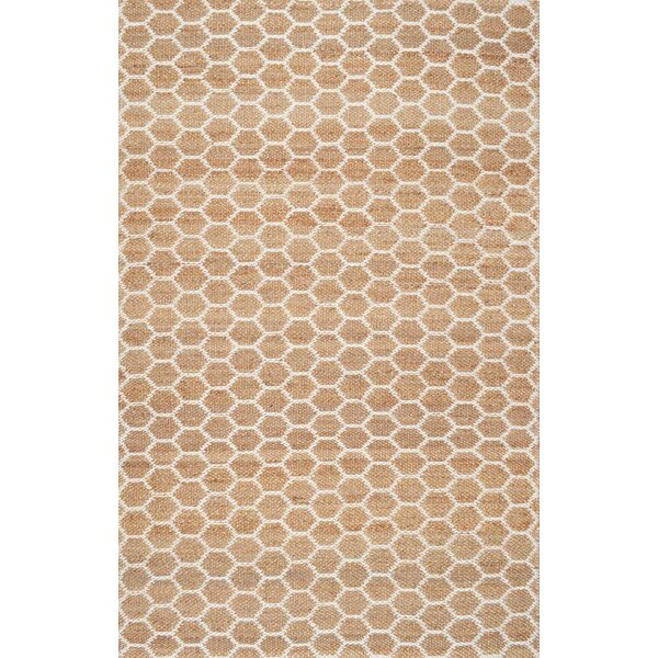 Stratford Hand-Woven Natural Area Rug by Breakwater Bay