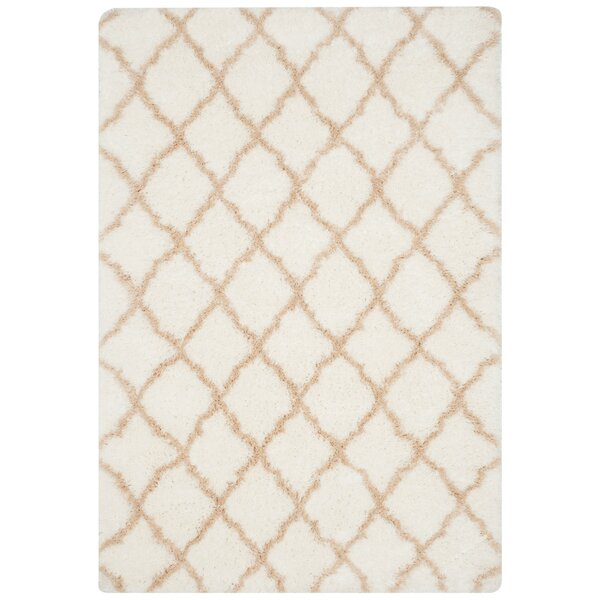 Rivers Ivory/Light Beige Area Rug by Willa Arlo Interiors