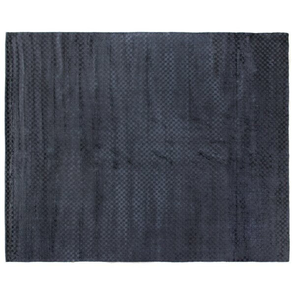 Dove Oxford Hand-Woven Navy Area Rug by Exquisite Rugs