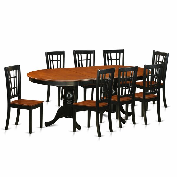 Pilcher Contemporary 9 Piece Dining Set by August Grove