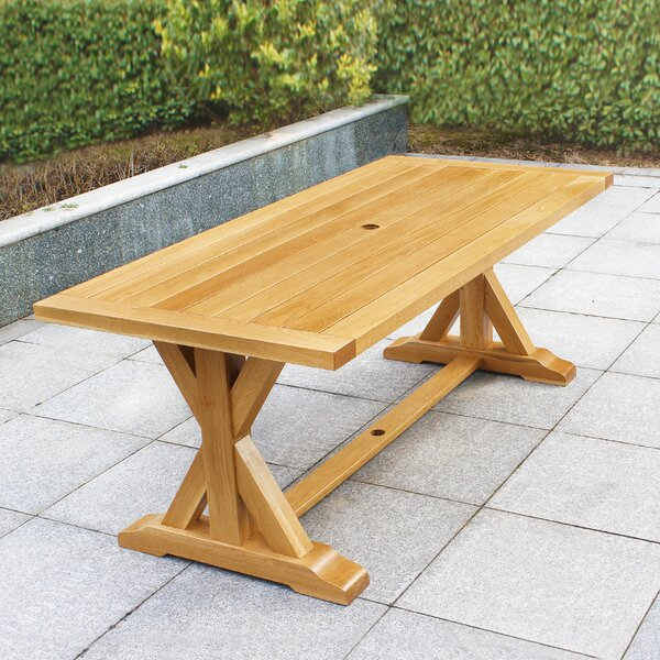 Rumfelt Solid Wood Dining Table by Millwood Pines