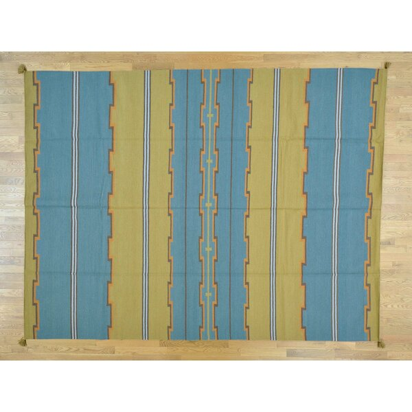 One-of-a-Kind Clatterbuck Design Reversible Handwoven Wool Area Rug by Isabelline