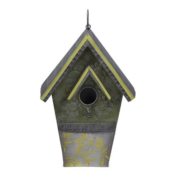 Metal 13 in x 8 in x 4 in Birdhouse by Zappobz