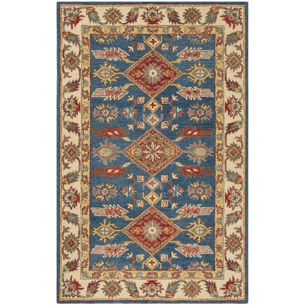 Clymer Antiquity Hand-Tufted Blue/Beige Area Rug by Charlton Home