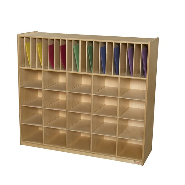 Multi-Storage 40 Compartment Cubby by Wood Designs