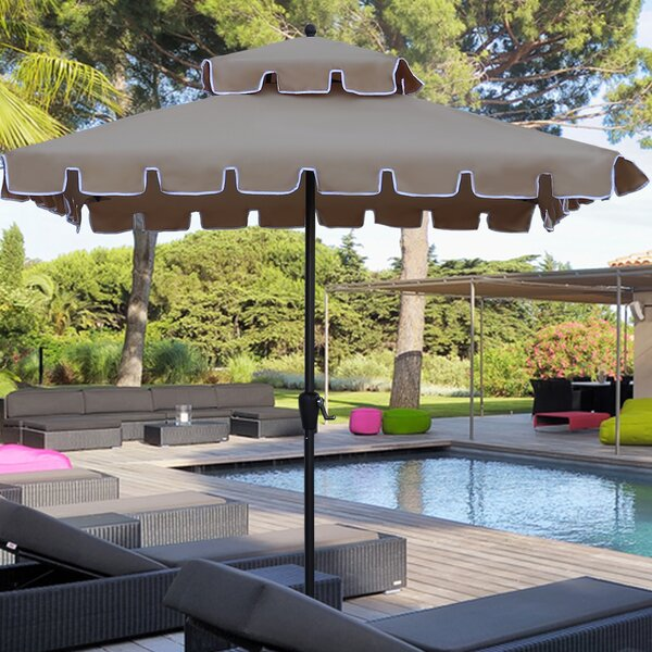 Jersey 7' Square Patio Umbrella by Highland Dunes