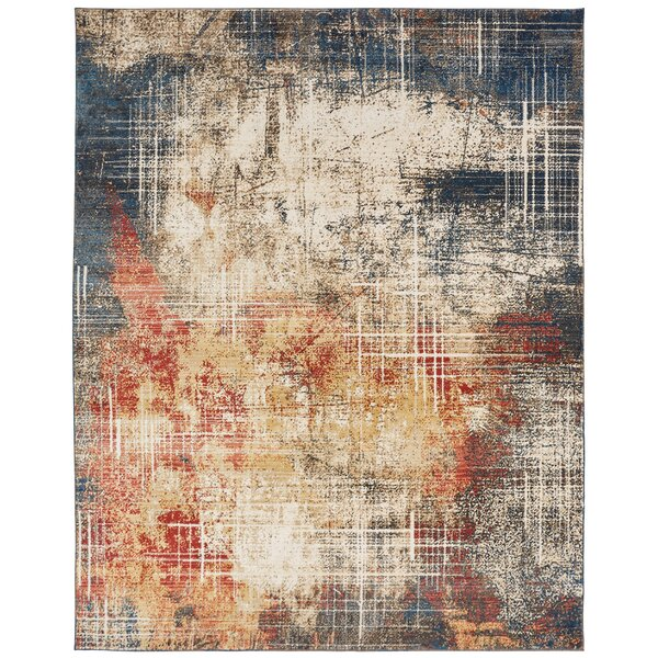 Hitchin Beige/Blue Area Rug by Williston Forge