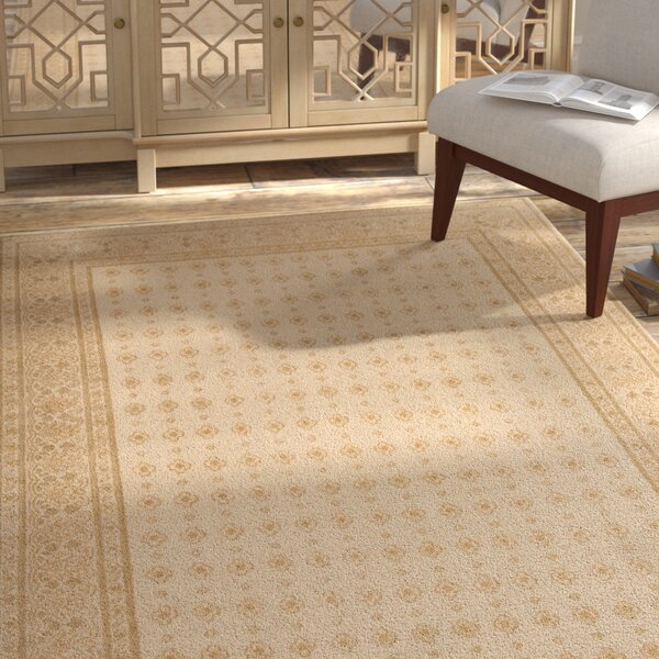 Berta Hand-Knotted Cream Area Rug by Bungalow Rose