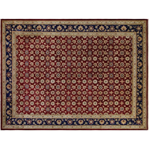 Badham Hand-Knotted Wool Red Area Rug by Bloomsbury Market