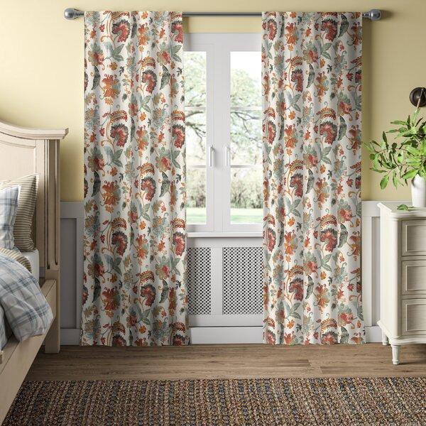 Jacobean Floral Curtains Wayfair