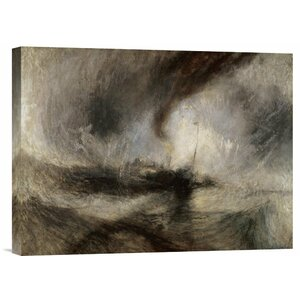 Snow Storm at Sea by Joseph M.W. Turner Painting Print on Wrapped Canvas by Global Gallery